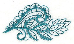 Leaf Swirl embroidery design