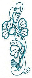 Flowers Bird embroidery design
