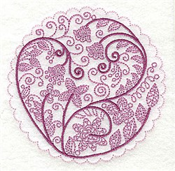 Whimsical Flowers F embroidery design