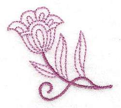 Whimsical Flower 9 embroidery design