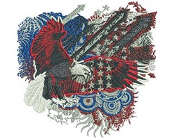 Fireworks Eagle embroidery design