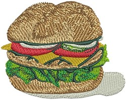 CHEESE BURGER embroidery design