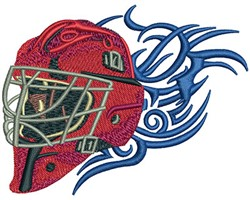 TRIBAL GOALIE MASK embroidery design
