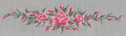 Long Roses embroidery design