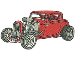 HOT ROD COUPE embroidery design