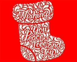 Joy Stocking embroidery design
