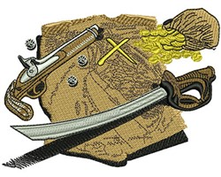 PIRATES MAP embroidery design