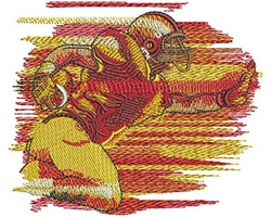 FOOTBALL RUN embroidery design