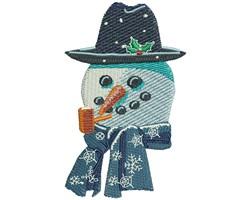 SNOWMAN SMILE embroidery design
