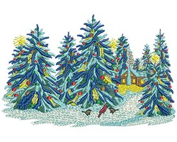 Christmas Trees embroidery design