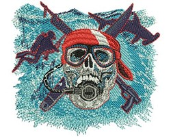 SCUBA SKULL embroidery design