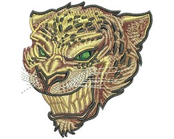 Jaguar Head embroidery design