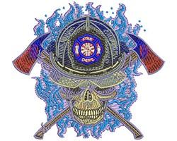 Fire Skull embroidery design