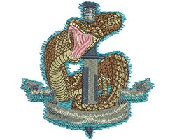 Dagger and Snake embroidery design
