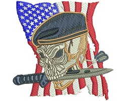 MILITARY SKULL embroidery design