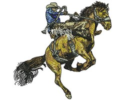 Rodeo Cowboy embroidery design