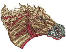Mustang Head embroidery design