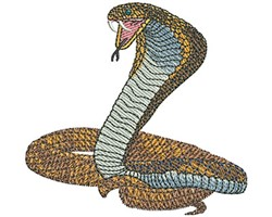Cobra Mascot embroidery design