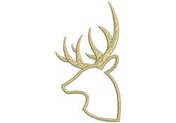 Deer Outline embroidery design