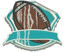FOOTBALL GRUNGE STICKER embroidery design