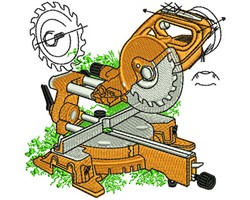 Miter Saw embroidery design