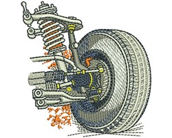 CAR SUSPENSION embroidery design