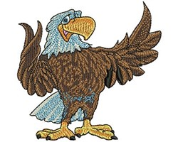 CARTOON EAGLE embroidery design