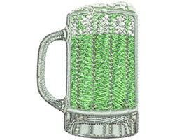 GREEN BEER embroidery design