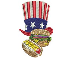 PATRIOTIC FOOD embroidery design