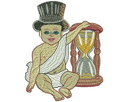 Baby New Year embroidery design