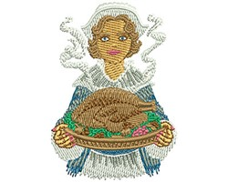 PILGRIM SERVING embroidery design