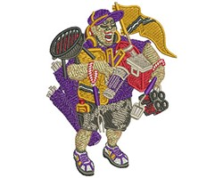 GEAR UP TAILGATING embroidery design