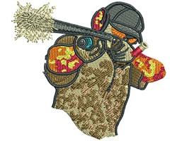 SHOTGUN POINTING embroidery design