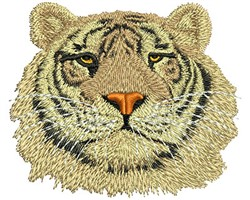 Tiger Head embroidery design