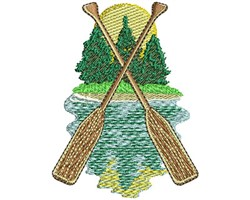 Boat Oars embroidery design