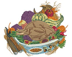 THANKSGIVING FOOD embroidery design
