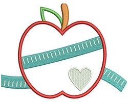 Apple Measure embroidery design