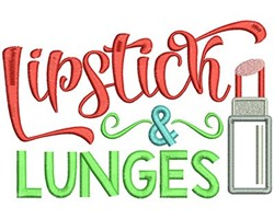 Lipstick & Lunges embroidery design