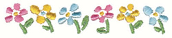 Row Of Flowers embroidery design