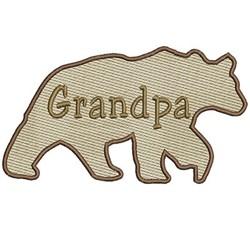 Grandpa Bear embroidery design