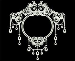 Elegant Decoration embroidery design