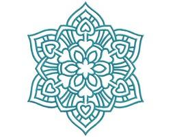 Mandalas embroidery design