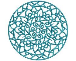 Circle Mandala embroidery design