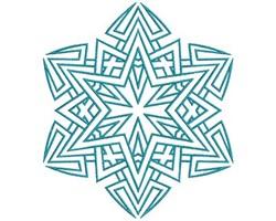 Star Mandala embroidery design
