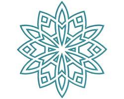 Mandala Outline embroidery design