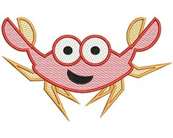 Crab Mylar embroidery design