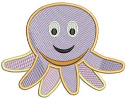 Octopus Mylar embroidery design