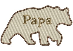 Papa Bear embroidery design