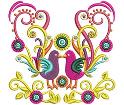 Swirl Birds embroidery design