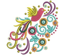 Bird Swirls embroidery design